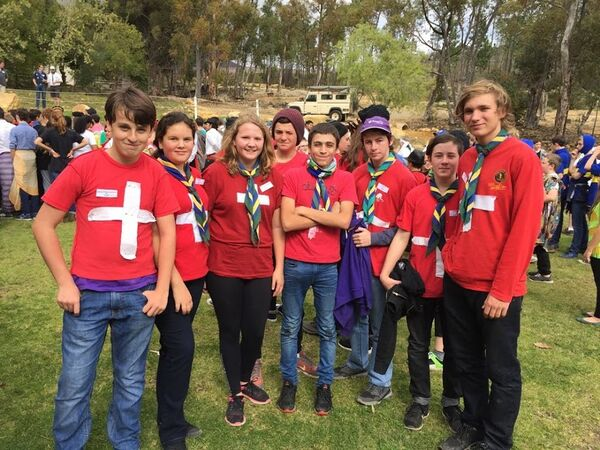 9th/16th Cape Town Scouts at a competition
